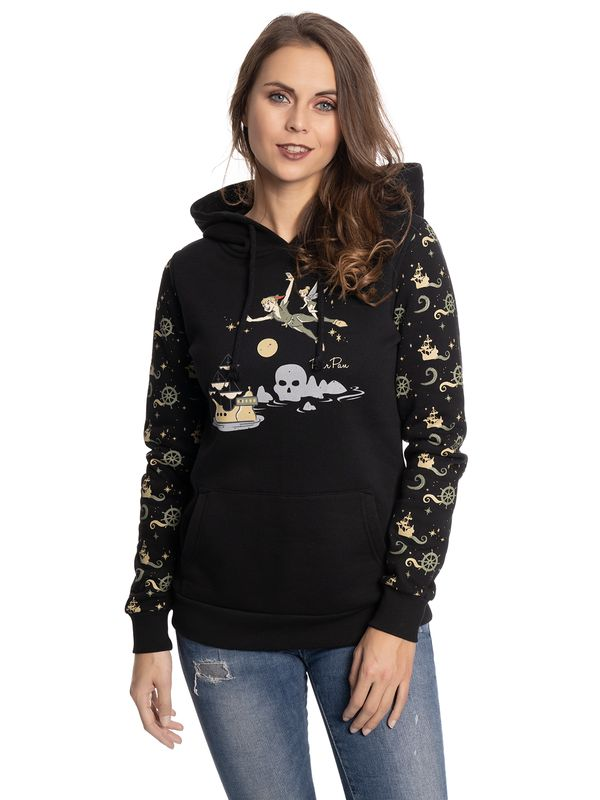 Peter Pan Over The Sea Girl Hoodie black Ansicht