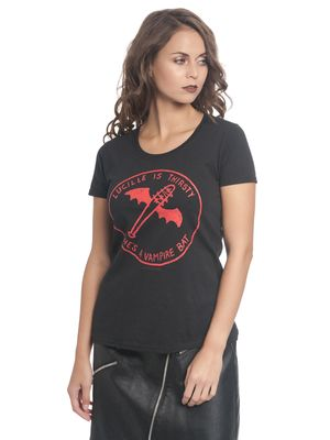 The Walking Dead Lucille Vampire Bat Damen T-Shirt Schwarz – Bild 2