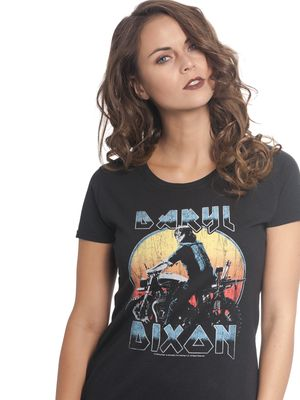 The Walking Dead Dixon Metal Damen T-Shirt Schwarz – Bild 1
