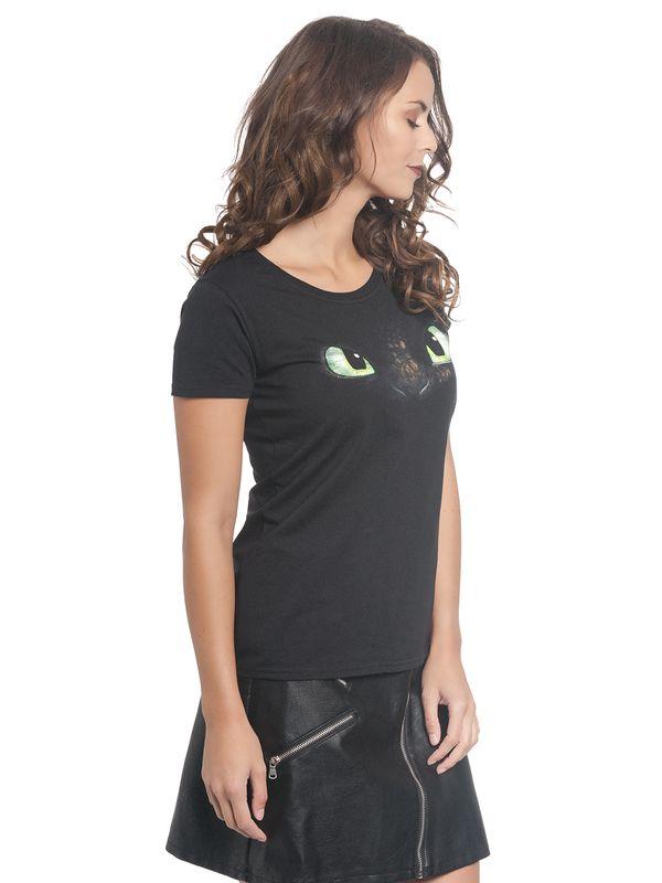 Dragons Face Damen Shirt Schwarz – Bild 2