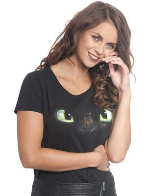 Dragons Face Damen Shirt Schwarz – Bild 2