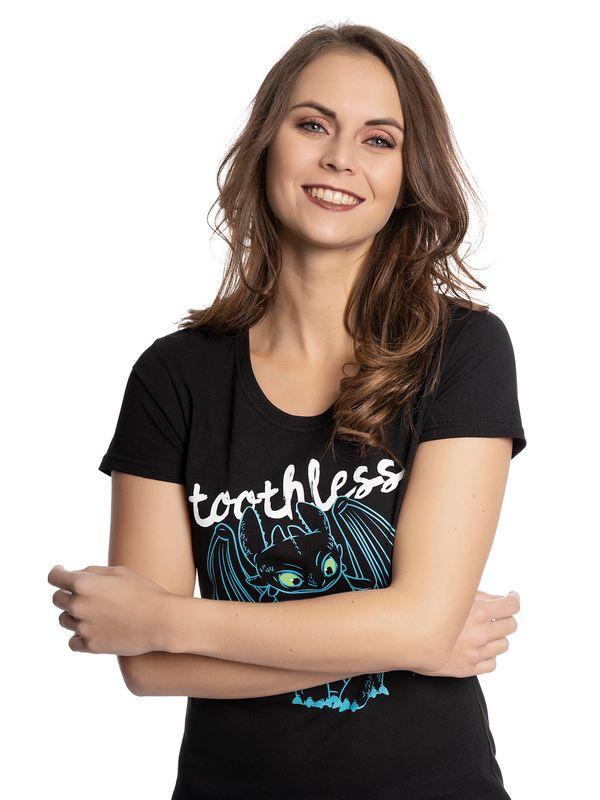 Dragons Toothless Blue Outlines Frauen Shirt schwarz – Bild 4