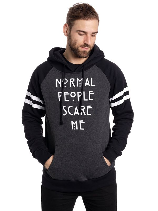 American Horror Story Normal People Raglan Hoodie grey-mel./black view