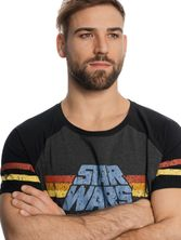 Star Wars 77 Raglan T-Shirt grey-mel./black – Bild 3