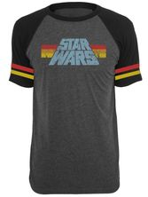 Star Wars 77 Raglan T-Shirt grey-mel./black – Bild 0