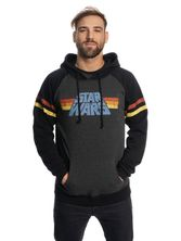Star Wars 77 Raglan Hoodie grey-mel./black – Bild 1