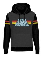 Star Wars 77 Raglan Hoodie grey-mel./black – Bild 0