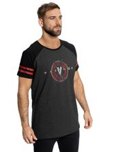 Vikings Axe Logo Raglan T-Shirt grey-mel./black – Bild 2