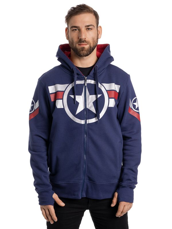 Marvel Captain America Soldier Ninja Zip-Hoodie Jacket navy Ansicht