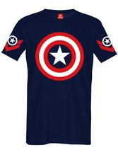 Marvel Captain America Sign T-Shirt navy