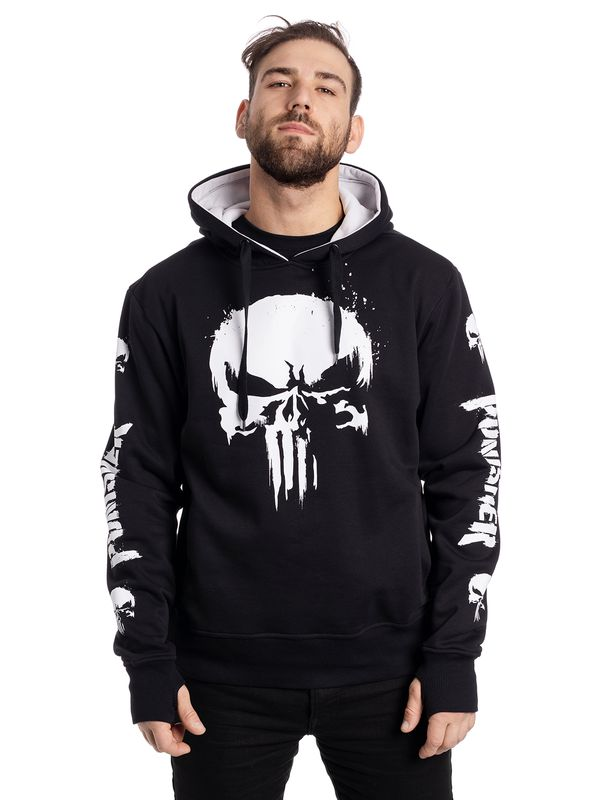The Punisher Skull Ninja Hoodie schwarz Ansicht