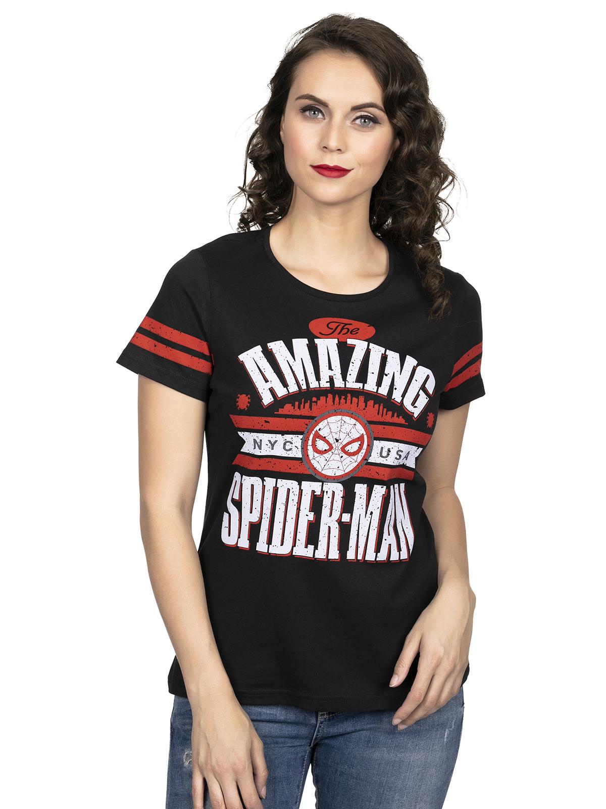Oberteile - Spiderman Amazing Girl Shirt schwarz – Größe L  - Onlineshop NAPO Shop