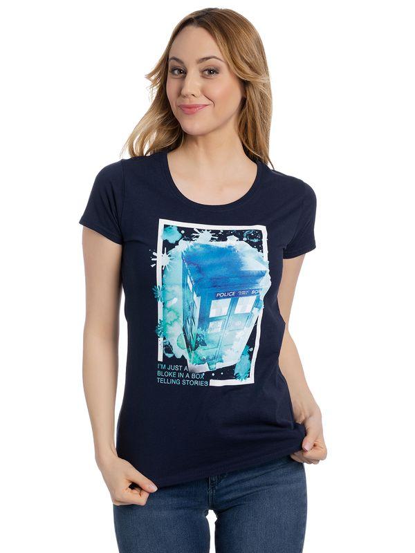Dr. Who I Am Just A Bloke Girl Shirt navy Ansicht