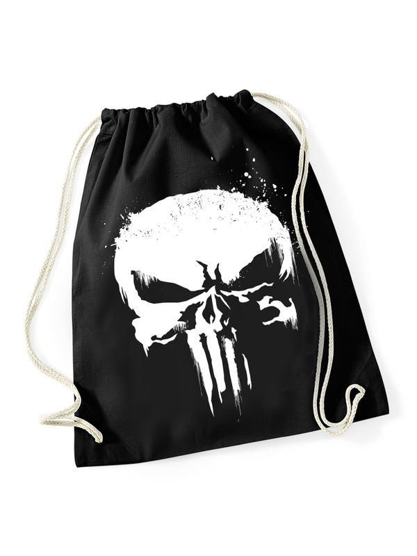 The Punisher Skull Grunge Turnbeutel schwarz Ansicht