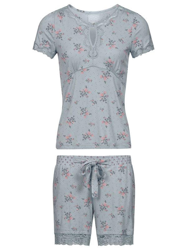 Vive Maria Ice Flower Bouquet Pyjama Short pearl blue allover Ansicht