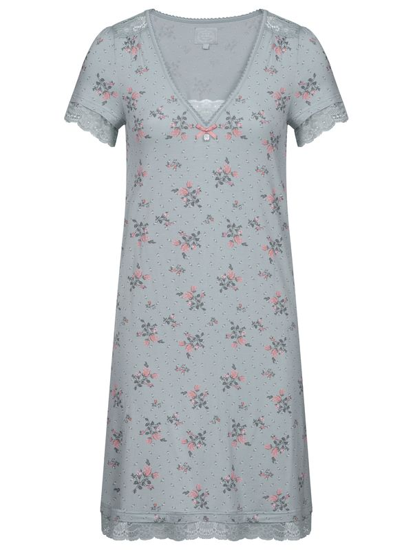 Vive Maria Ice Flower Nightdress pearl blue allover Ansicht