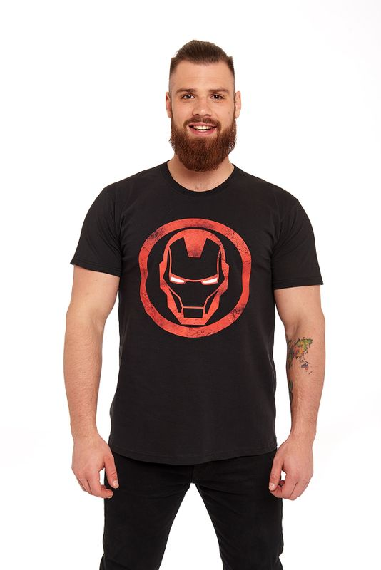 Iron Man Sign T-Shirt schwarz Ansicht