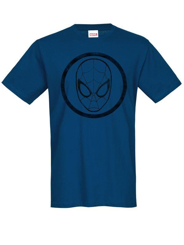 Spiderman Symbol T-Shirt marine Ansicht