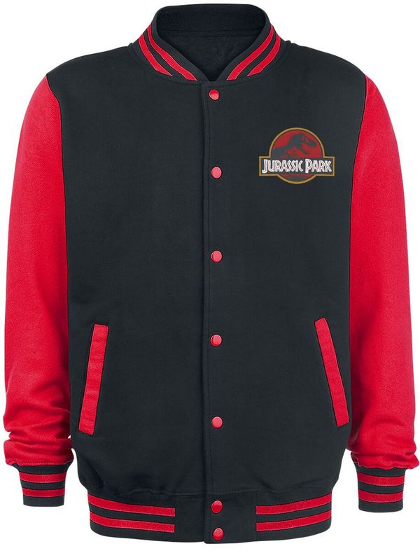 Jurassic Park Logo College Jacket black/red view