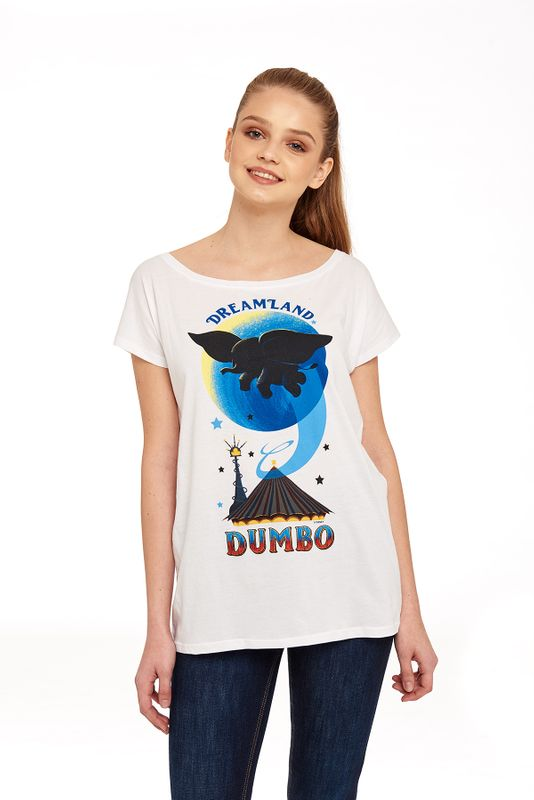 Dumbo Dreamland Loose Girl Shirt weiss Ansicht