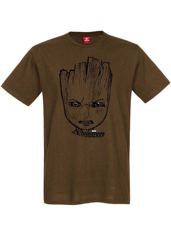 Guardians of the Galaxy Grumpy Groot T-Shirt braun Ansicht