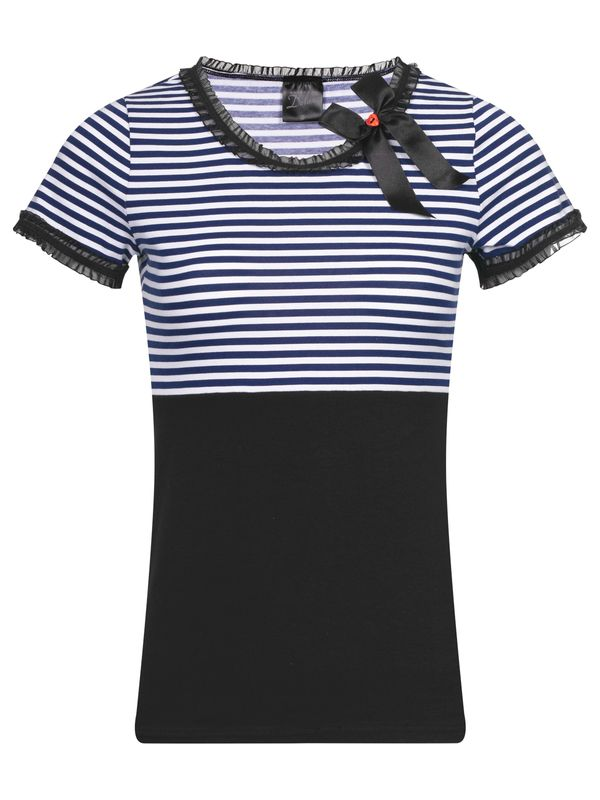 Pussy Deluxe Stripey Girl Tee navy/white/black view