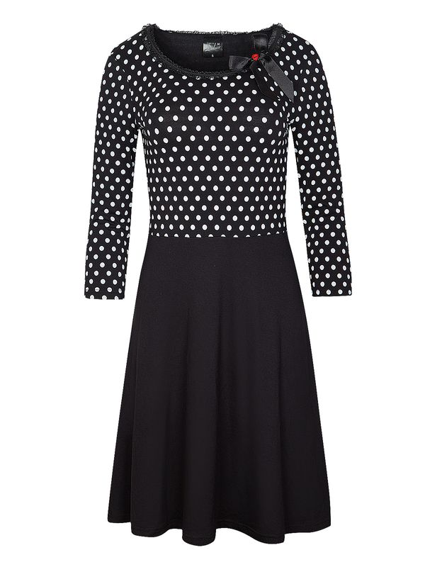 Pussy Deluxe Fine Dotties Dress black/white view