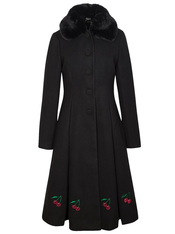 Pussy Deluxe PD Cherries Long Coat black view