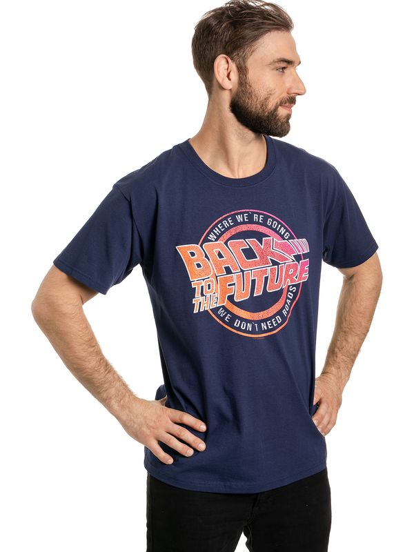 Back To The Future We Don't Need Roads T-Shirt navy Ansicht