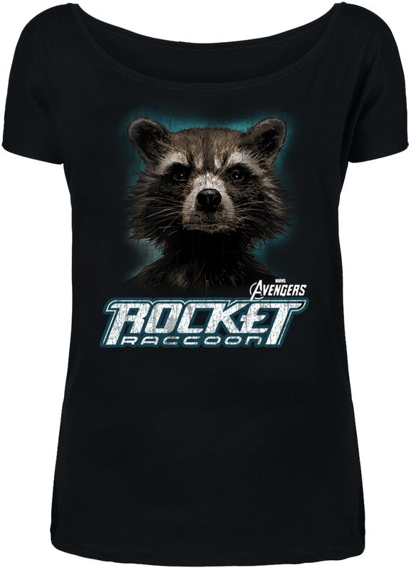 The Avengers Rocket Girl Loose Shirt black view