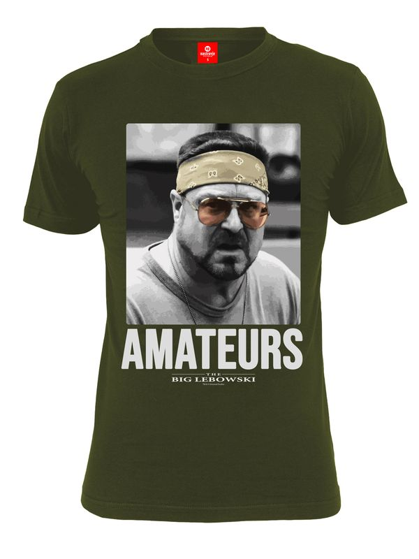 The Big Lebowski Amateurs T-Shirt olive view
