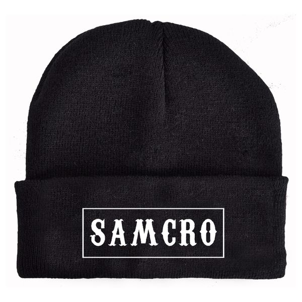 Sons of Anarchy Samcro Beanie black view