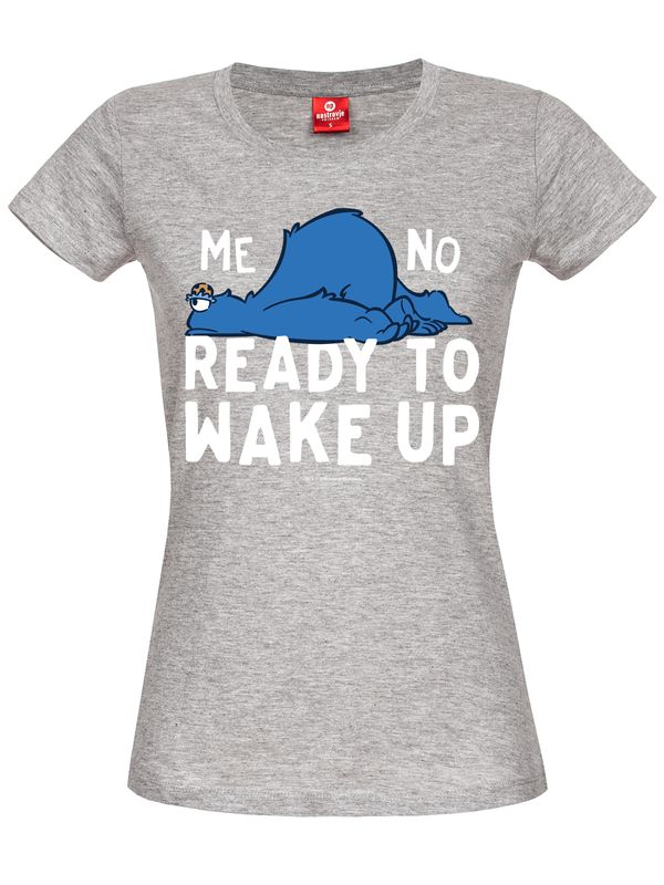 Sesame Street Me Not Ready To Wake Up Girl Tee gray melange view
