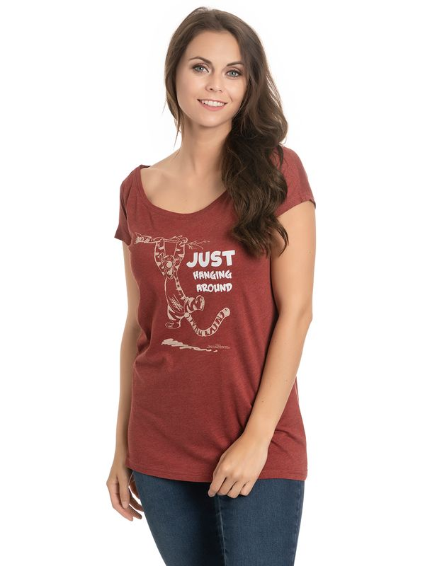Winnie the Pooh Hanging Around Girl Loose Shirt red-melange view