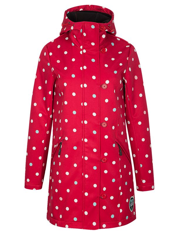Pussy Deluxe PD White Dots Softshell Girl Jacket red view