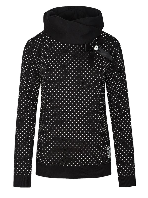 Pussy Deluxe PD Dots Shawl Collar Hoodie Women Black view