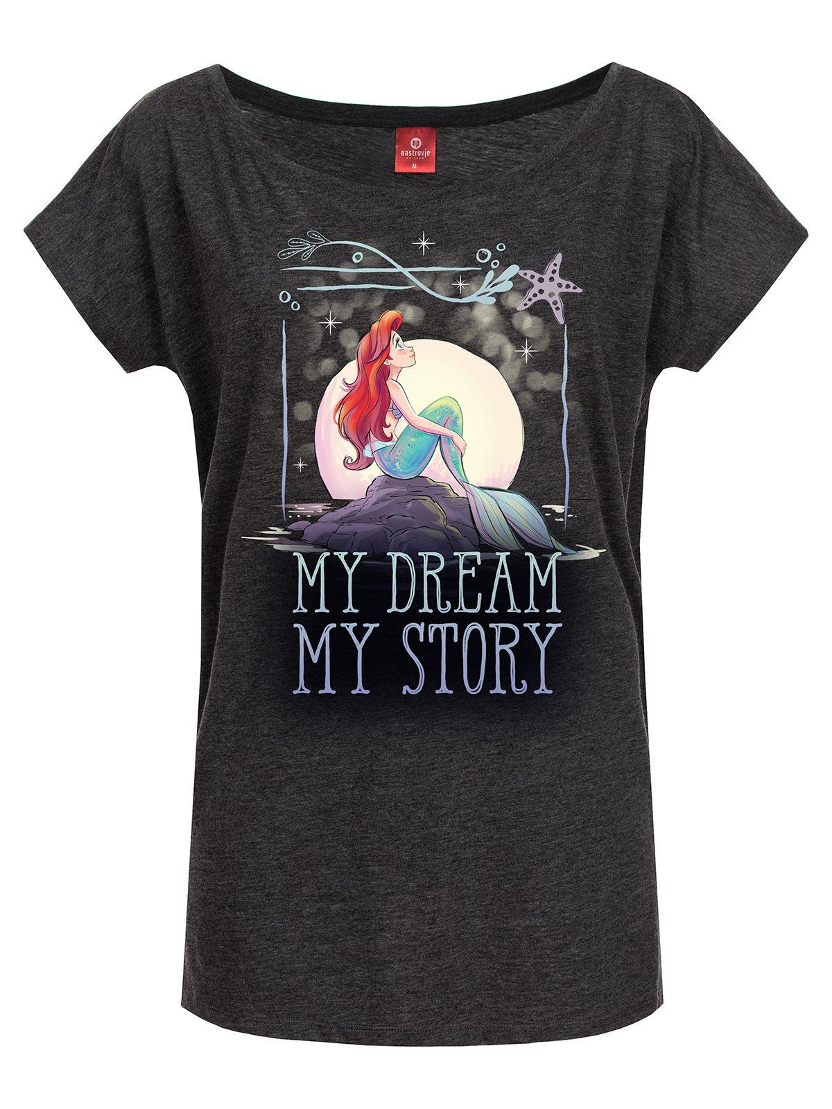 Oberteile - Arielle My Dream Girl Loose Shirt grau meliert – Größe XL  - Onlineshop NAPO Shop