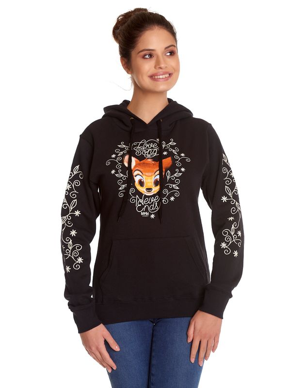 Bambi Love Is A Song Girl Hoodie black view