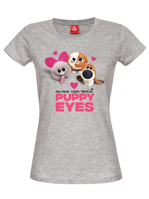 The Secret Life of Pets Puppy Eyes Girl Shirt grau-meliert Ansicht