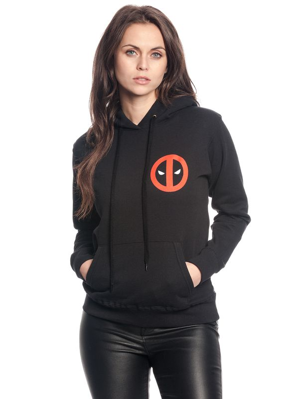 Deadpool Chimichanga Girl Hooded Sweater black view