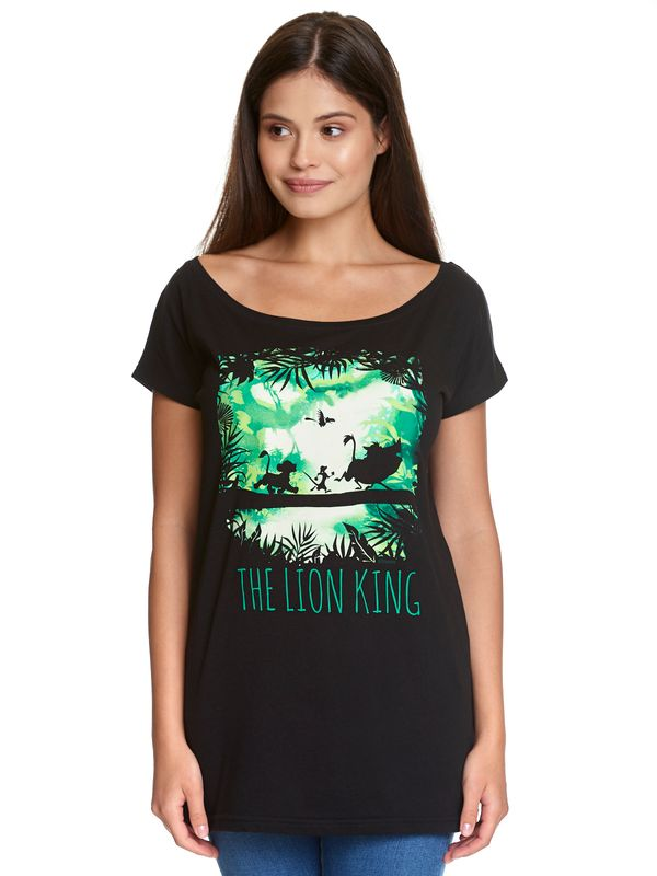 The Lion King Walking Through The Jungle Girl Loose Tee black view