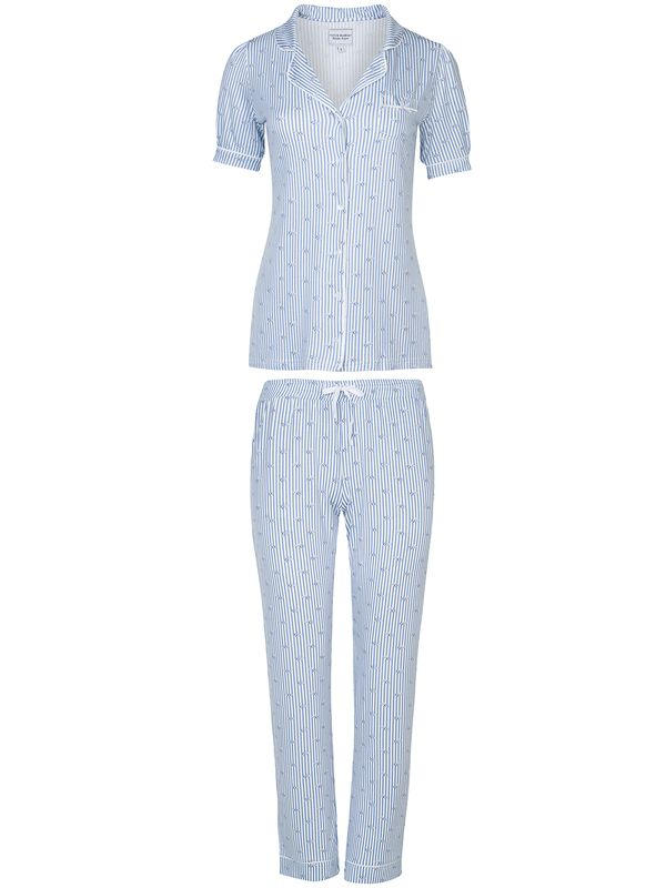 Vive Maria Seaside Pyjama Blau Allover Ansicht