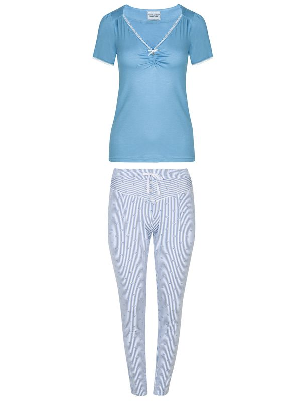 Vive Maria Summer Breeze Pyjama Blau Allover Ansicht