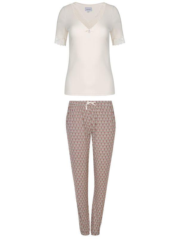 Vive Maria Vanilla Dream Pyjama Creme Allover Ansicht