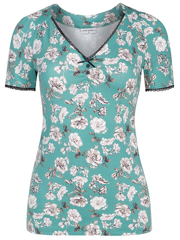 Vive Maria Green Bouquet Shirt Green/Allover Ansicht