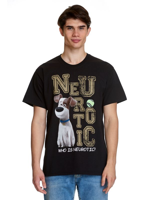 The Secret Life of Pets Neurotic T-Shirt black view