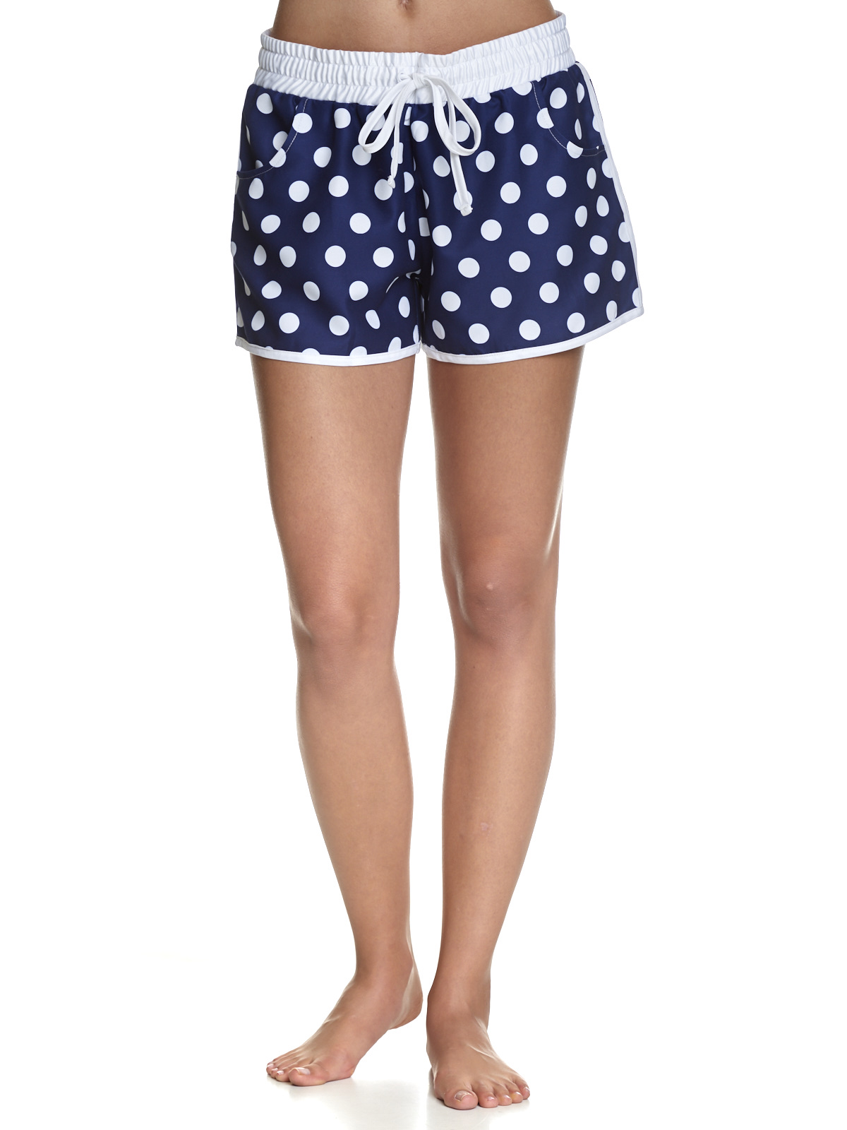 Bademode - Pussy Deluxe Big Dots Girl Boardshorts navy allover – Größe XS  - Onlineshop NAPO Shop