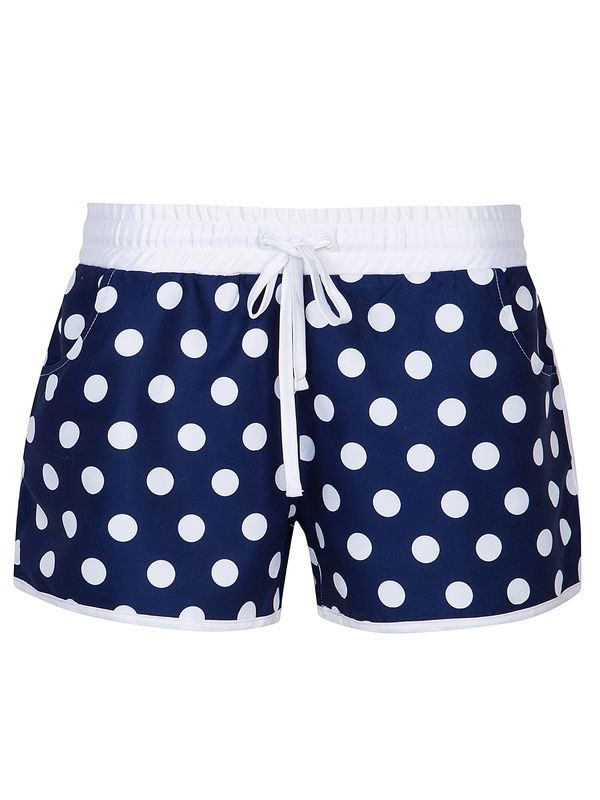 Pussy Deluxe Big Dots Girl Boardshorts navy allover Ansicht