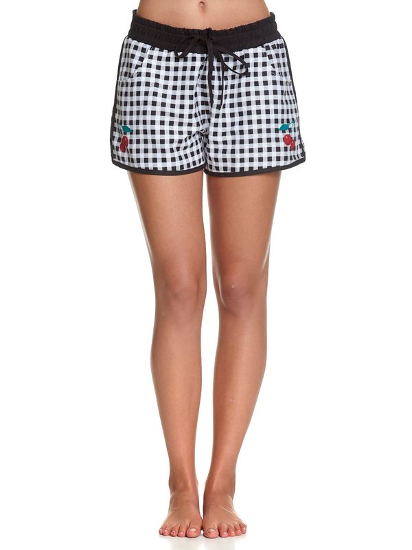 Pussy Deluxe Plaid Girl Boardshorts black/white view