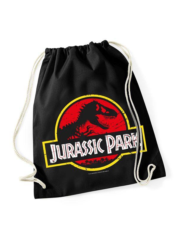 Jurassic Park Logo Gym Bag schwarz Ansicht
